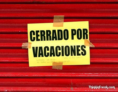Cerrado por vacaciones thinkinfreak cerrado vacaciones thecheapjerseys Image collections