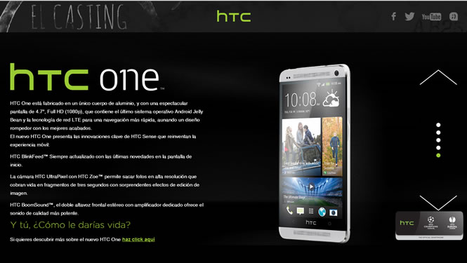 Casting HTC One