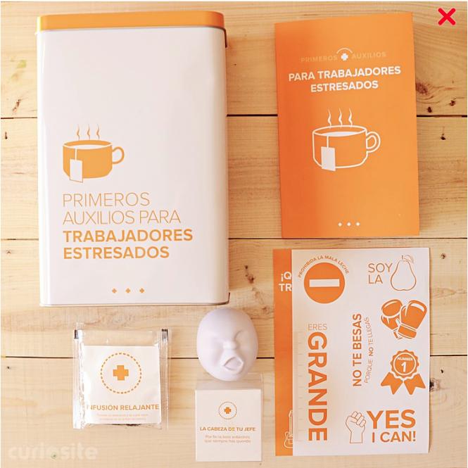 kit de primeros auxilios para trabajadores estresados